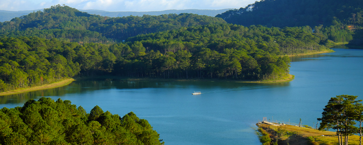 Tuyen Lam lake at Dalat, Vietnam