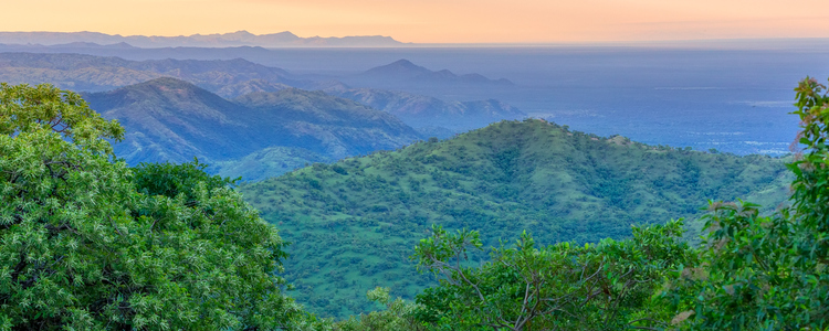 panorama view of Omo Valley, Omorati Etiopia, Africa nature and wilderness